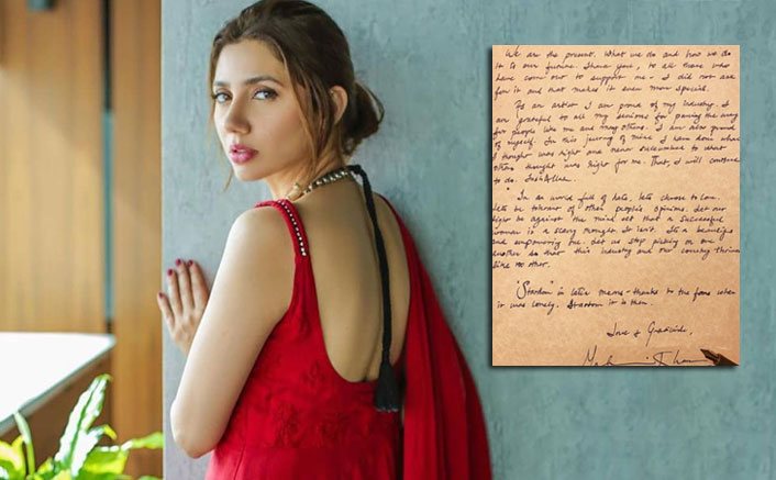 Raees Actress Mahira Khan Writes An Open Letter In Response To Pakistani Actor's 'Age Comment'