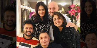 Rishi enjoys 'ghar ka khana' with Riteish, Genelia in NY