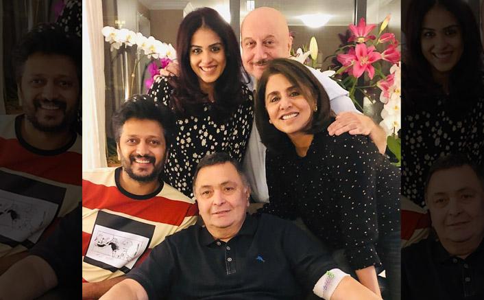 Rishi enjoys 'ghar ka khana' with Riteish, Genelia in NY