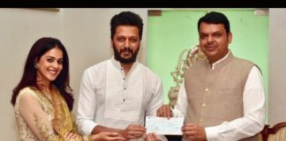 Riteish, Genelia donate Rs.25 lakh for Maharashtra flood relief
