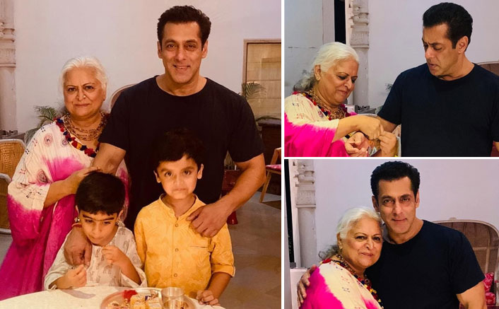 Salman celebrates Raksha Bandhan with Bina Kak