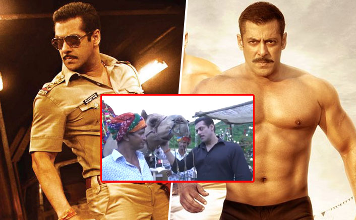 VIDEO: Salman Khan's Chulbul Pandey Meets 'Sultan' On The Sets Of Dabangg 3 In Rajasthan