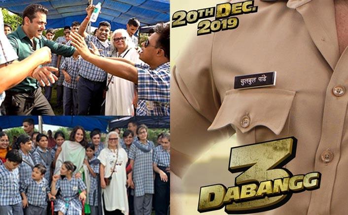 Salman, Sonakshi spend time with kids on 'Dabangg 3' set