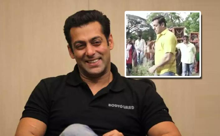 SHOCKING! Salman Khan Whips Himself Amidst A Large Crowd; See Video