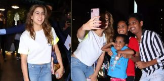 Sara woos social media by happily posing with kids at airport