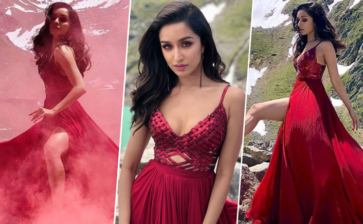 Sharing stills from 'Saaho' song, Shraddha Kapoor looks like a fairy in this wine-coloured dress