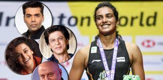 SRK, Taapsee congratulate world champion Sindhu
