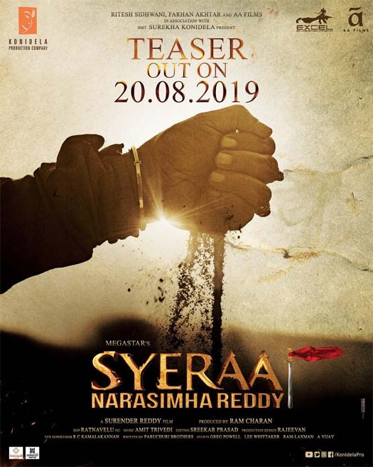Sye Raa Narasimha Reddy: The Teaser Of Chiranjeevi - Amitabh Bachchan Starrer To Be Unveiled On This Day
