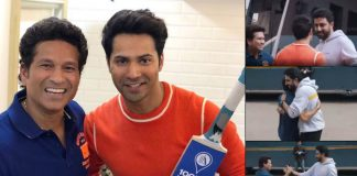 Varun, Abhishek play gully cricket with Sachin Tendulkar