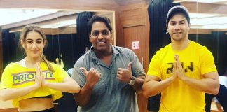 Varun Dhawan And Sara Ali Khan Twin In Yellow As They Rehearse For Coolie No 1 Song with Ganesh Acharya; See Pic