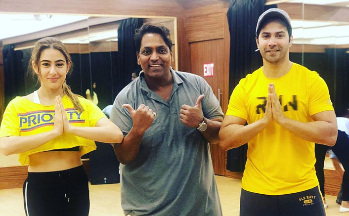 Coolie No. 1: Varun Dhawan & Sara Ali Khan Twin In Yellow As They Rehearse With 'Masterji' Ganesh Acharya