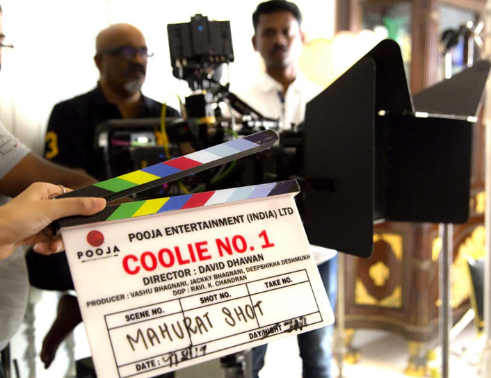 Varun Dhawan's Mom Gives The Mahurat Clap For Coolie No 1!