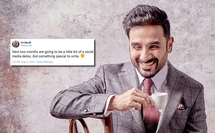 Vir Das to be on social media detox