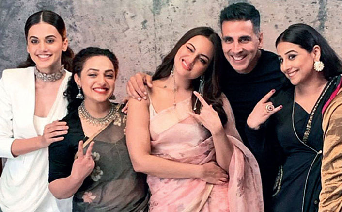 Video: Akshay Kumar Dancing On 'Mundian To Bach Ke' With Sonakshi Sinha, Taapsee Pannu & Nithya Menen Is VIRAL All Over!