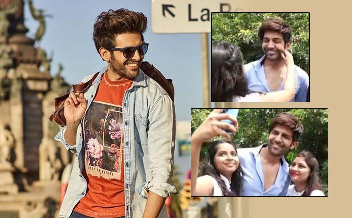 Watch Kartik Aaryan's Expressions As A Female Fan Pulls His Cheeks & Tells Him Aap Bahot Cute Ho