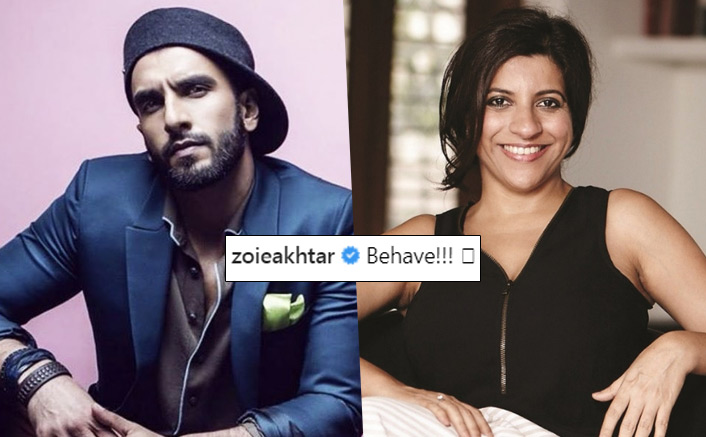 Why Zoya Akhtar asked Ranveer to behave