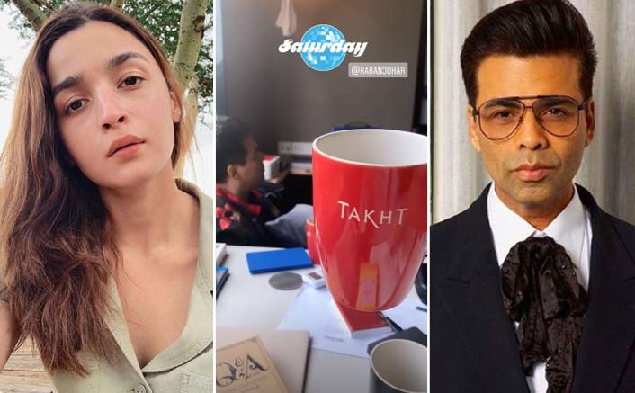 Alia Bhatt Begins Takht With Karan Johar, Shares Sneak Peek With Fans