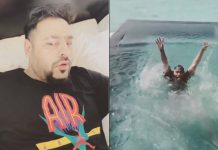Badshah's 'Paagal' alarm tune makes him jump in pool