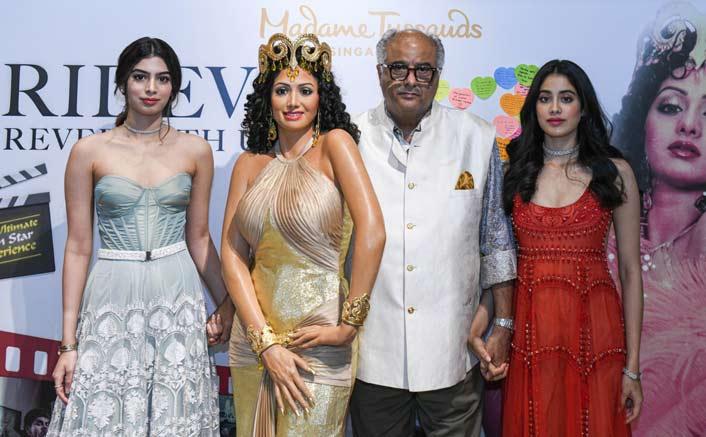 Sridevi's Madame Tussauds Wax Statue Unveiled By Janhvi, Khushi & Boney Kapoor - See Pics