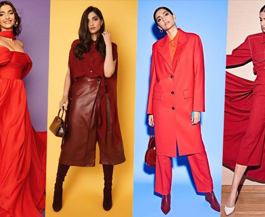 Check out Sonam Kapoor's guide on how to style your red clothes differently