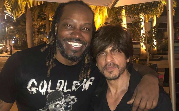 Chris Gayle shares pic with Shah Rukh Khan