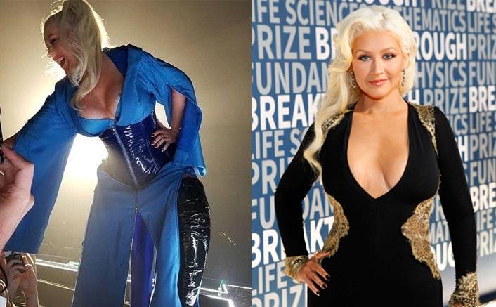 Christina Aguilera Suffers Wardrobe Malfunction, Accidentally Reveals Nipple Tape