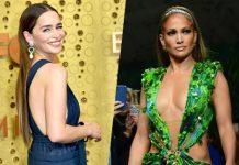 Emilia Clarke Channels Her Inner Jennifer Lopez As She Walk In a Chic Dress On The Emmy 2019 Red Carpet