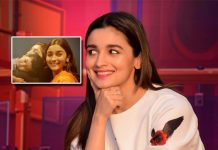 Happy Alia Bhatt poses with Ankit Tiwari's little one