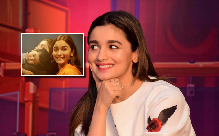 Happy Alia Bhatt poses with Ankit Tiwari's little one