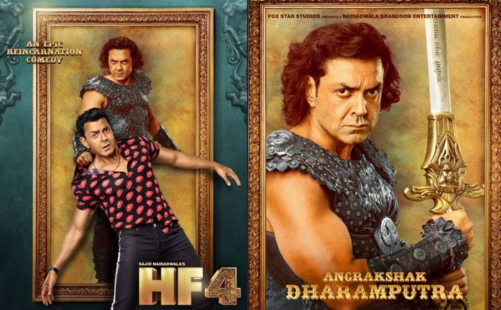 Housefull 4 Poster Ft. Bobby Deol: Dharamputra In Real & Reel, Makers Raise The Level Of Madness Every Hour!