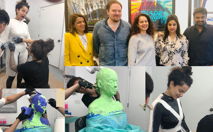 Kangana Ranaut undergoes extensive prep for Thalaivi in US, check out her Prosthetics measurement pictures