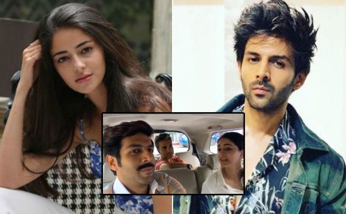 """VIDEO: Kartik Aaryan's Funny Dig At Ananya Panday Makes Her Say, """"I'll Rip Your Moustache Off"""""""