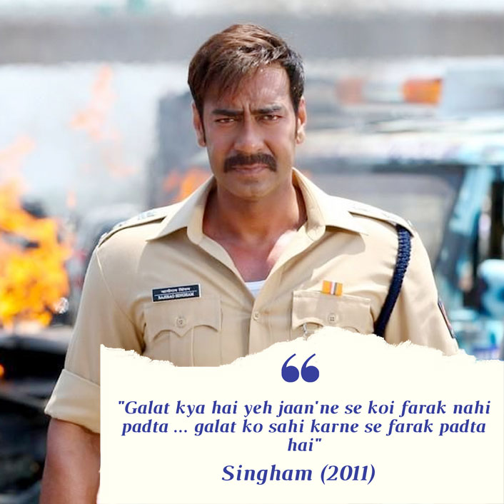 #MondayMotivation: Ajay Devgn's This Dialogue From Singham Is The Most Underrated One