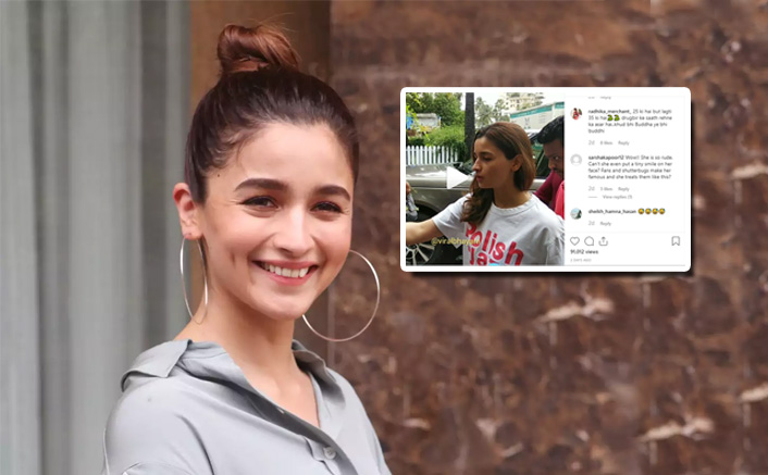 Alia Bhatt Misbehaves With Her Bodyguards, Gets Slammed By Netizens