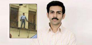 Pati Patni Aur Woh Scene Leaked! Kartik Aaryan Climbs The Wall And We Wonder Who Did He Climb It For