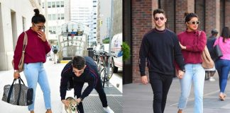 Priyanka Chopra and Nick Jonas taking a stroll with their dog Daina will make your day better