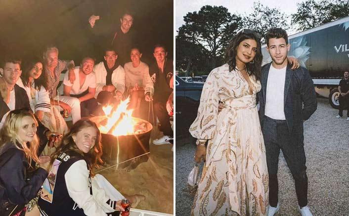 Priyanka Chopra Enjoys Bonfire With Nick Jonas & Family; See Pics