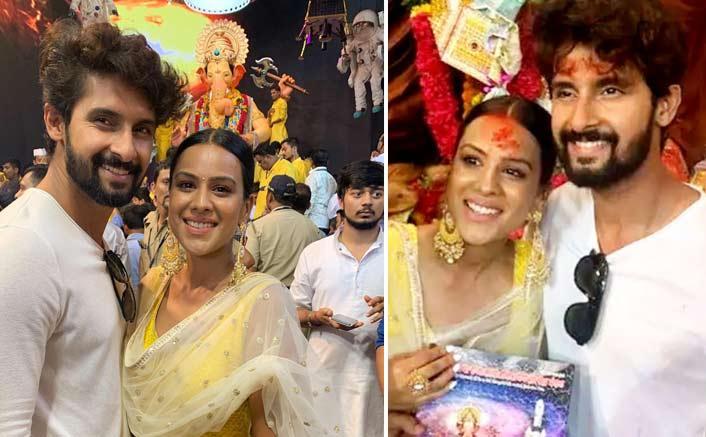 Jamai 2.0 Stars Ravi Dubey & Nia Sharma Seek Blessings From Lal Baug Cha Raja - See PICS!