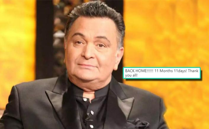 Rishi Kapoor Returns To India After 11 Months Post Cancer Treatment & Shares A Post Thanking People