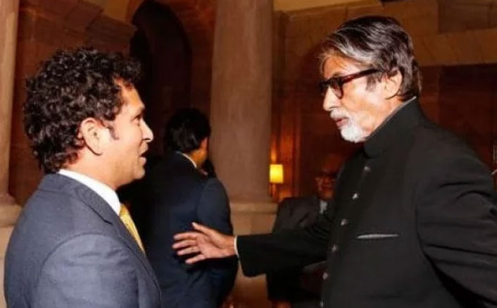 Sachin congratulates Bachchan on winning Dadasaheb Phalke Award