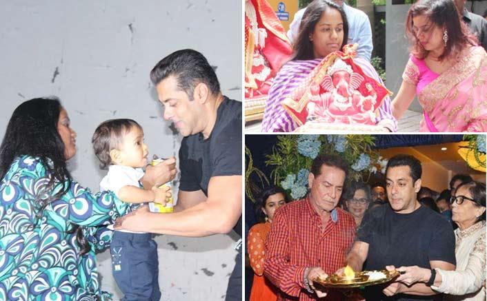 Salman Khan & Family Along With B'Town Celebs Visit Arpita Khan Sharma's House To Celebrate Ganesh Chathurthi