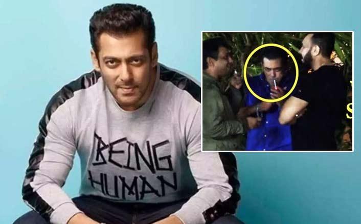 Salman Khan Bashed For Smoking During Ganesh Visarjan, Watch video