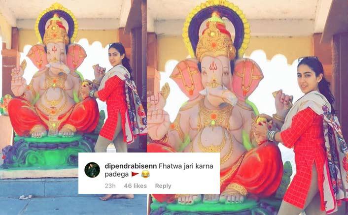 """Sara Ali Khan Gets Trolled For Posting Picture With Ganesha; Netizens Say, """"Fatwa Jaari Karna Padega"""""""