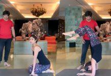 Shilpa Shetty nails Vrischikasana pose, sets fitness goals