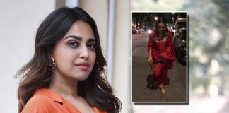 Swara Bhasker loses footwear during Ganpati darshan