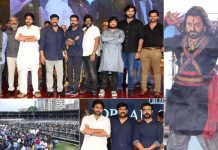 Thousands of fans came together to witness the grandeur of Sye Raa Narasimha Reddy pre-release event, check out these pictures