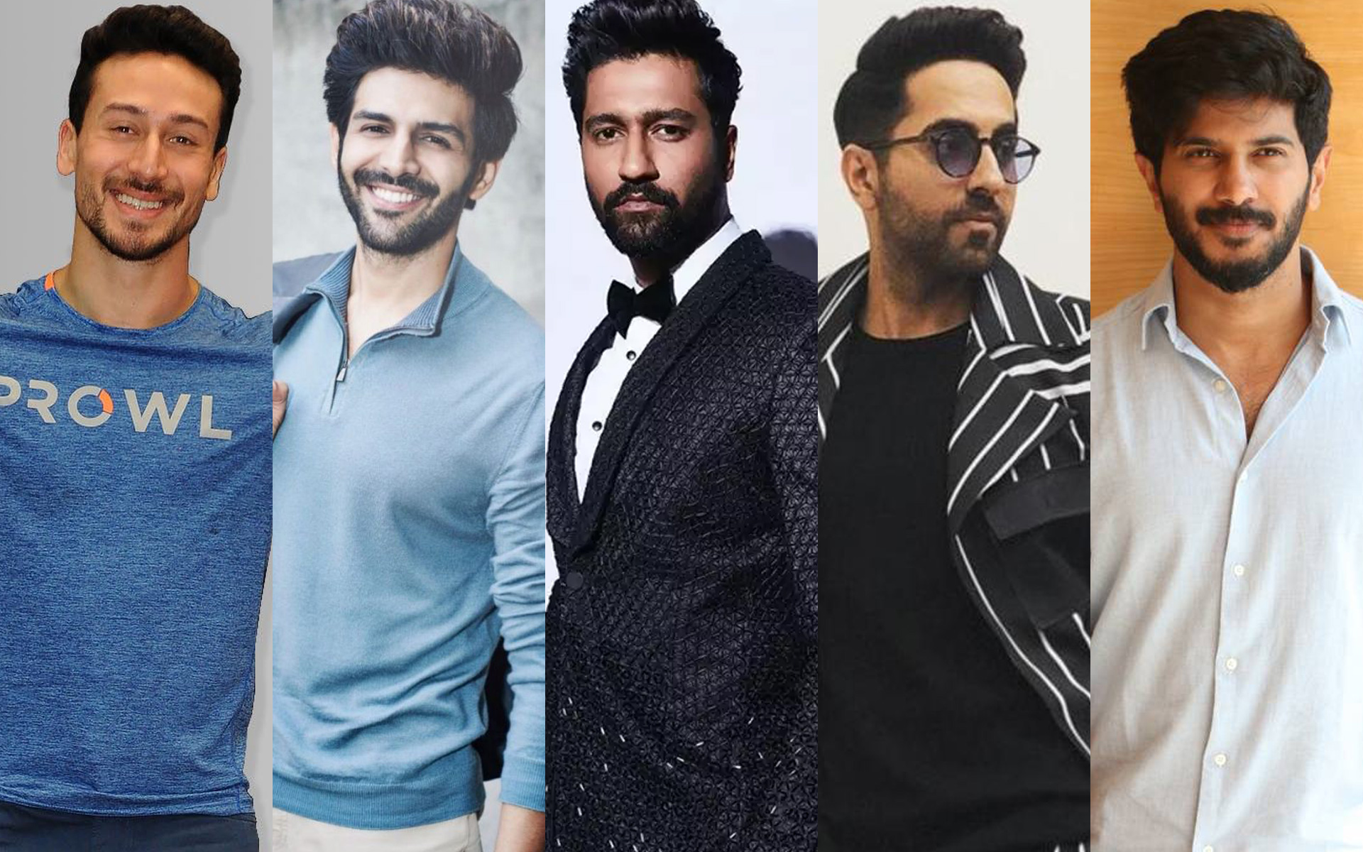 Tiger Shroff, Kartik Aaryan, Ayushmann Khurrana, Vicky Kaushal, Dulquer Salmaan - Heartthrobs Of Gen X