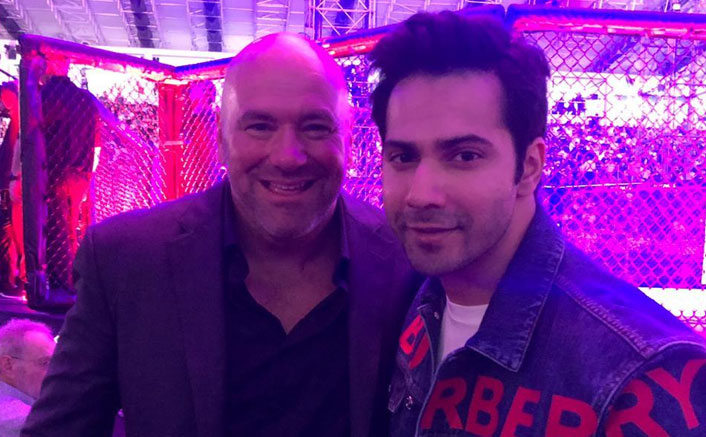 Varun Dhawan attends fighting championship in Abu Dhabi after being invited by UFC president Dana White