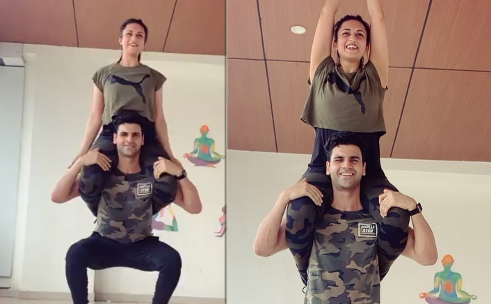 VIDEO: Divyanka Tripathi Dahiya & Vivek Dahiya Teach Us A Unique Workout & We Are Totally Lovin' It!