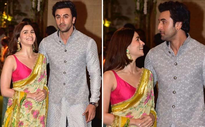 Watch: Alia Bhatt Almost Trips In Her Saree & Boyfriend Ranbir Kapoor Holds Her Back
